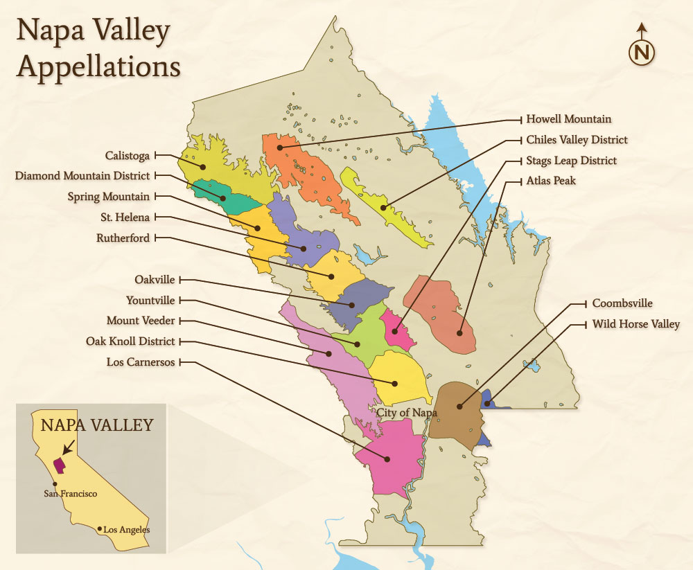 the napa valley appellations. the map  napa valley passport